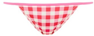 Solid & Striped The Morgan Gingham Bikini Briefs - Pink