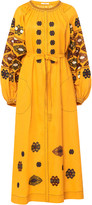 Vita Kin Bodrum Embroidered Linen Midi Dress