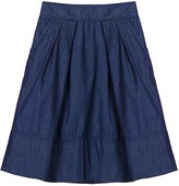 Bb Dakota Indigo Blue Dusty Denim Skirt