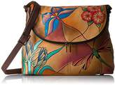 Anuschka Anna by Hand Painted Large Flap Bag Jewelled Wing