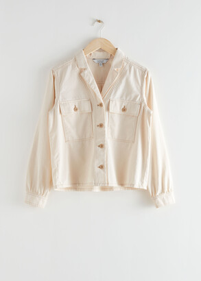And other stories Organic Cotton Utility Shirt