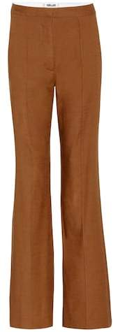 Diane von Furstenberg Linen-blend flared trousers