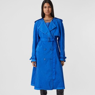 Burberry Technical Canvas Collarless Trench Coat