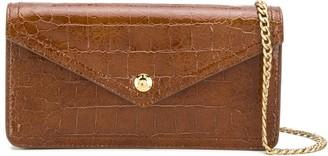 Miu Miu crocodile-effect wallet on chain