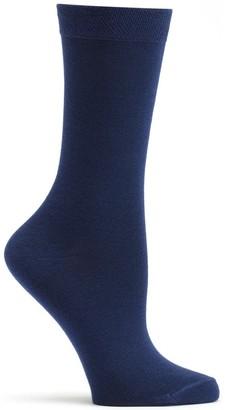 Ozone Women's Pima Cotton Mid Zone Sock Navy 9-11