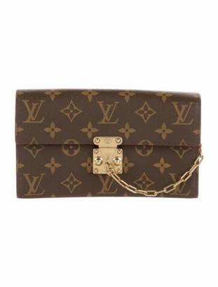 Louis Vuitton 2019 Monogram S Lock Belt Pouch MM Brown