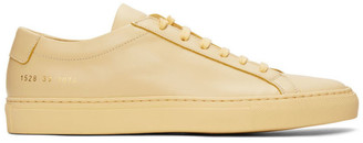 Common Projects Yellow Achilles Low Sneakers