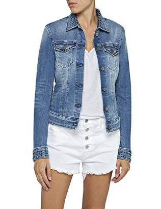 Replay Women's Wa7651.000.419s450 Denim Jacket, (Medium Blue 9), Small