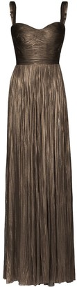 Maria Lucia Hohan Kesia pleated bustier gown