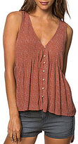 O'Neill Chrystie Printed V-Neck Button Front Tank Top