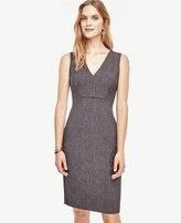 Ann Taylor Petite Seamed V-Neck Sheath Dress