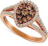 LeVian Le Vian Chocolatier® Diamond Teardrop Split Shank Ring (3/4 ct. t.w.) in 14k Rose Gold