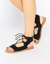 London Rebel Gladiator Flat Sandals