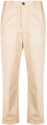Nine In The Morning Cropped Straight-Leg Trousers