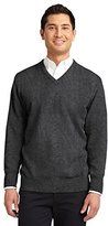 Port Authority Men's Value V Neck Sweater XL Charcoal Grey