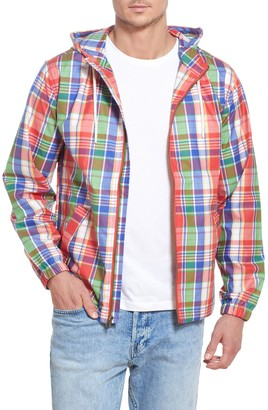 Weatherproof Vintage Coated Plaid Zip Hoodie Jacket