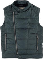 John Galliano Bi-material sleeveless jacket