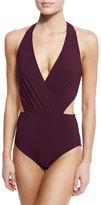 Karla Colletto Basics Halter Monokini Swimsuit