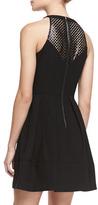 Ali Ro Laser-Cutout Halter Dress