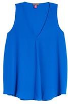 Vince Camuto Petite Women's Drape Front V-Neck Sleeveless Blouse