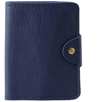 Luxury Italian Leather Blue Passport Cover