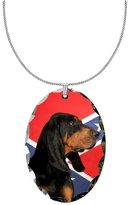 Canine Designs Black & Tan Coonhound Pendant Necklace