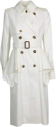 Alexander McQueen Ruffled Trench Coat