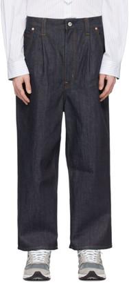 Junya Watanabe Indigo Wide-Leg Jeans