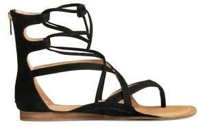 Aerosoles Scrapbook Leather Cage Sandals