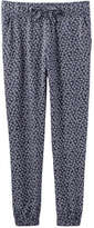 Joe Fresh Kid Girls' Print Flowy Pant, JF Midnight Blue (Size XL)