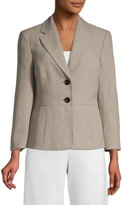 Kasper Suits Notch Lapel Stretch Jacket