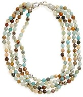 Simon Sebbag Women's Semiprecious Stone Bib Necklace