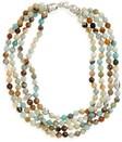 womens simon sebbag semiprecious stone bib necklace