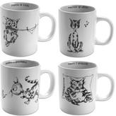 French Cat Mugs, Set of 4