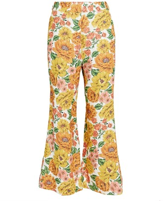 Zimmermann Poppy Cropped Linen Flare Pants