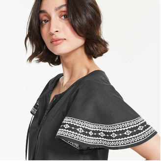 Joe Fresh Women's Drop Waist Dress, Black (Size M)