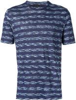 Z Zegna woven stripe T-shirt - men - Linen/Flax - S