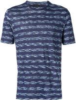 Z Zegna woven stripe T-shirt