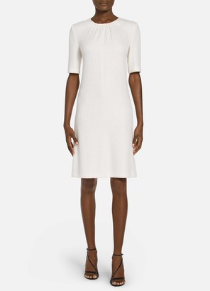 St. John Refined Knit Elbow Sleeve Dress