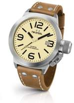 TW Steel Canteen 45MM Stainless Steel & Leather Strap Watch