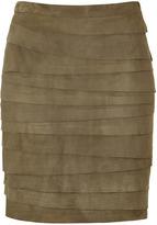 Black Lea Vintage Moss Lightweight Suede Skirt