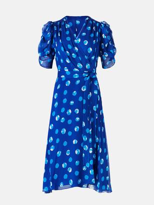 Diane von Furstenberg Kimora Chiffon Wrap Dress