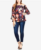City Chic Trendy Plus Size Off-The-Shoulder Top