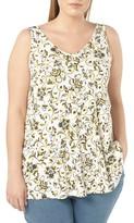 Evans Plus Size Women's Floral Print Jersey Tank