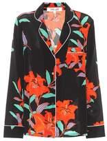 Diane von Furstenberg Floral-printed silk shirt
