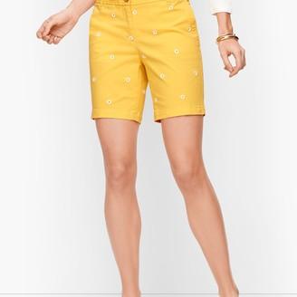 """Talbots Relaxed Chino Shorts - 7"""" - Daisy Print"""