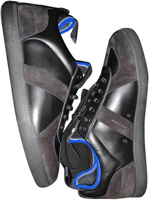 Christian Dior B01 Black Leather Trainers