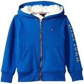 Tommy Hilfiger Sherpa Lining Full Zip Hoodie (Toddler/Little Kids)