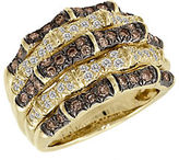 LeVian Chocolate and Vanilla Diamond 14K Yellow Gold Ring, 1.27 TCW