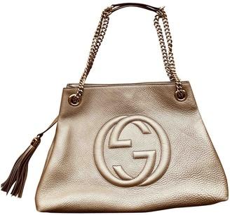 Gucci Soho Metallic Leather Handbags